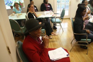 Health aides are listening intently to a course in dementia